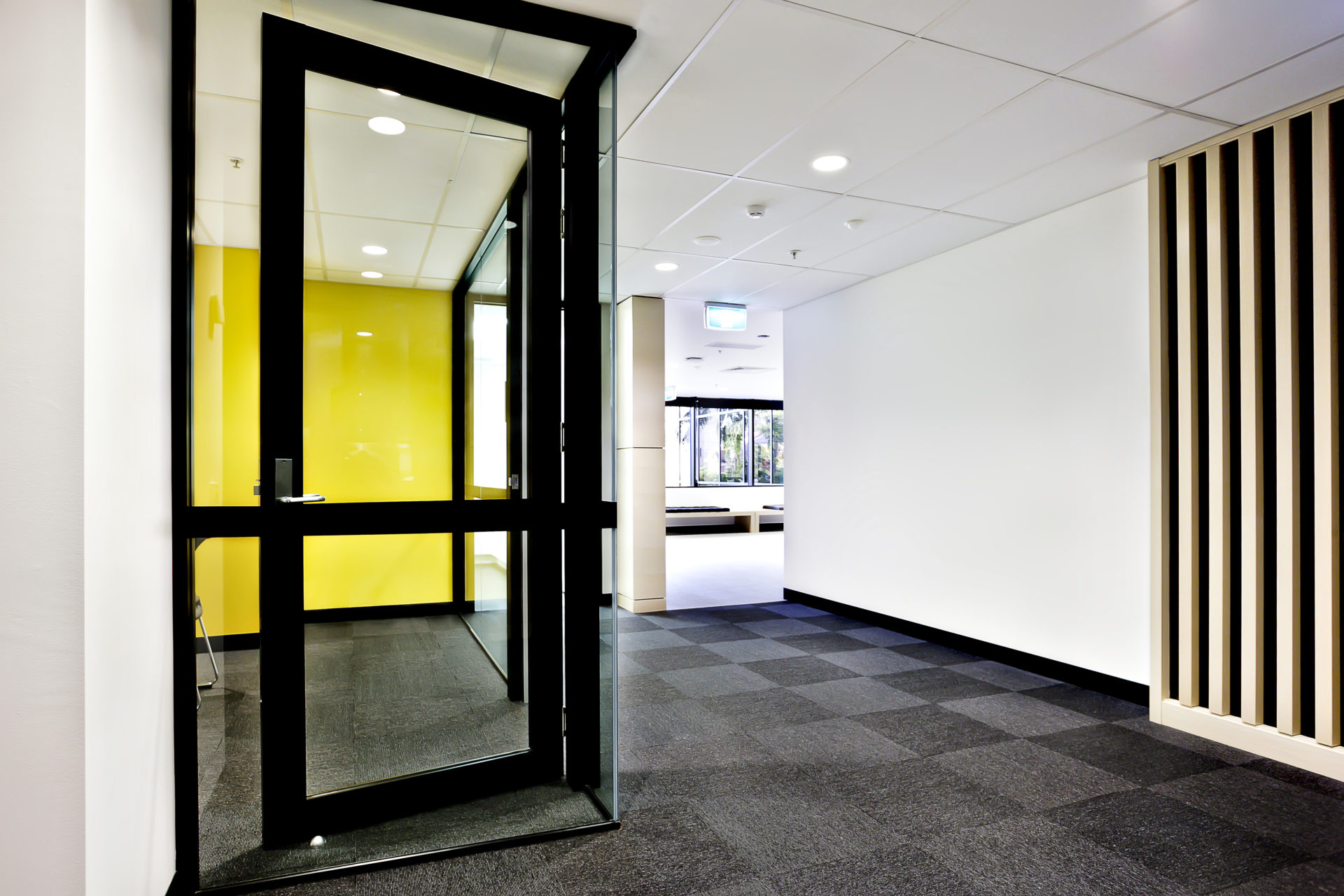 Modern Office Or Apartment Area Through The Hallway